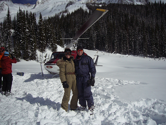 Me and Jessica heli-skiing